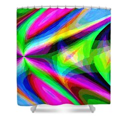 Abstract 45 Shower Curtain by Kenny Francis