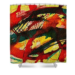 Abstract 73 Shower Curtain by Ana Maria Edulescu