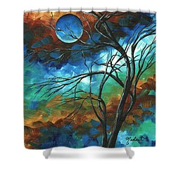 Abstract Art Original Colorful Painting Mystery Of The Moon By Madart Shower Curtain by Megan Duncanson