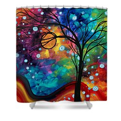 Abstract Art Original Painting Winter Cold By Madart Shower Curtain by Megan Duncanson