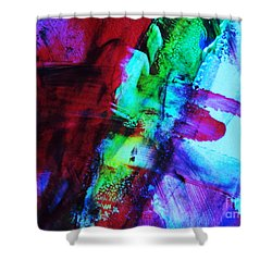 Abstract Bold Colors Shower Curtain by Andrea Anderegg