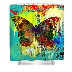 Abstract Butterfly Shower Curtain by Gary Grayson