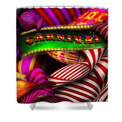 Abstract - Carnival Shower Curtain by Mike Savad