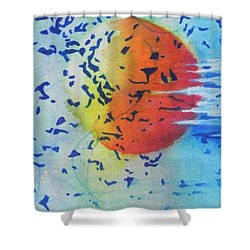 Abstract Shower Curtain by Chrisann Ellis