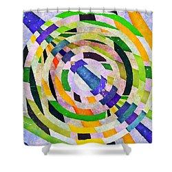Abstract Circles Shower Curtain by Susan Leggett