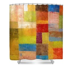 Abstract Color Study Vii Shower Curtain by Michelle Calkins