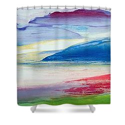 Abstract Composition Shower Curtain by Lou Gibbs