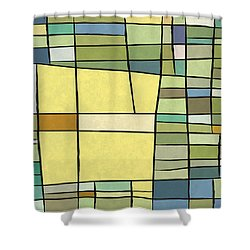 Abstract Cubist Shower Curtain by Gary Grayson