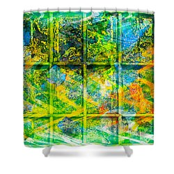 Abstract  - Emotion - Trapped Shower Curtain by Barbara Griffin