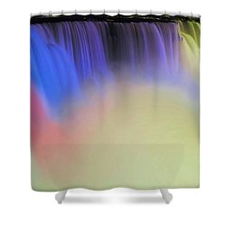 Abstract Falls Shower Curtain by Kathleen Struckle