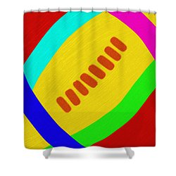 Abstract Football Shower Curtain by Andee Design