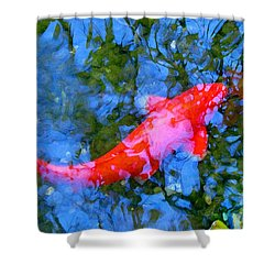 Abstract Koi 4 Shower Curtain by Amy Vangsgard