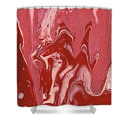 Abstract - Nail Polish - Tongue Shower Curtain by Mike Savad