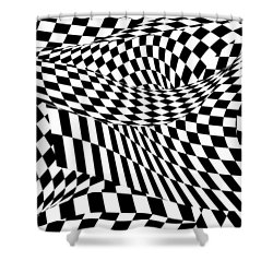 Abstract - Ow My Eyes Shower Curtain by Mike Savad