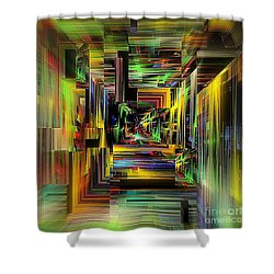 Abstract Perspective E3 Shower Curtain by Greg Moores