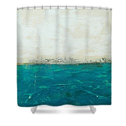 Abstract Seascape 02/14b Shower Curtain by Filippo B
