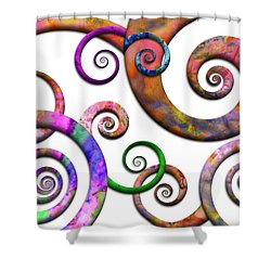 Abstract - Spirals - Planet X Shower Curtain by Mike Savad