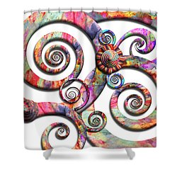 Abstract - Spirals - Wonderland Shower Curtain by Mike Savad