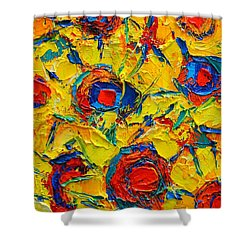 Abstract Sunflowers Shower Curtain by Ana Maria Edulescu