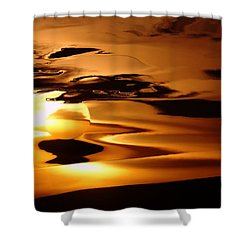 Abstract Sunrise Shower Curtain by Jeff Swan