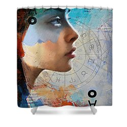 Abstract Tarot Art 019 Shower Curtain by Corporate Art Task Force