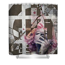 Abstract Woman 001 Shower Curtain by Corporate Art Task Force
