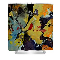 Abstract Women 010 Shower Curtain by Corporate Art Task Force