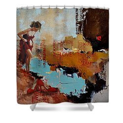 Abstract Women 019 Shower Curtain by Corporate Art Task Force