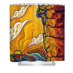 Achievement Shower Curtain by Leon Zernitsky