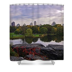 Across The Pond 2 - Central Park - Nyc Shower Curtain by Madeline Ellis