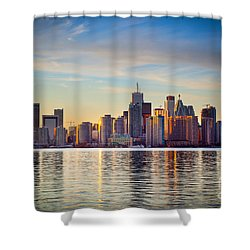 Across The Water Shower Curtain by Inge Johnsson