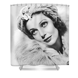 Actress Loretta Young Shower Curtain by Underwood Archives