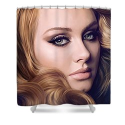 Adele Artwork  Shower Curtain by Sheraz A