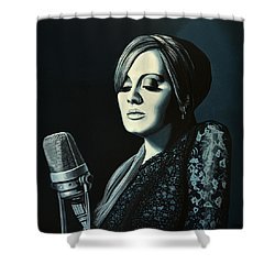 Adele Skyfall Painting Shower Curtain by Paul Meijering
