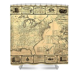 Advertising Map Shower Curtain by Gary Grayson