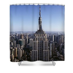 Aerial View Of A Cityscape, Empire Shower Curtain by Panoramic Images