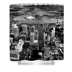 Aerial View Of London 5 Shower Curtain by Mark Rogan