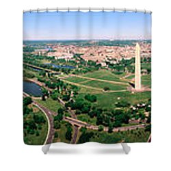 Aerial Washington Dc Usa Shower Curtain by Panoramic Images