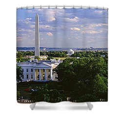 Aerial, White House, Washington Dc Shower Curtain by Panoramic Images