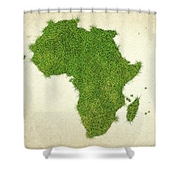 Africa Grass Map Shower Curtain by Aged Pixel