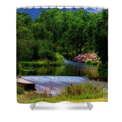 After Rain Shower Curtain by Jon Burch Photography