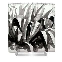 After The Iris Blooms Have Fallen Shower Curtain by Kip DeVore