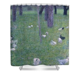 After The Rain Shower Curtain by Gustav Klimt