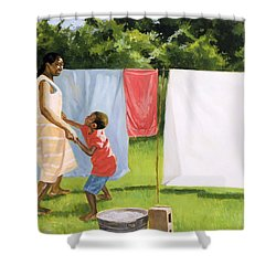 Afternoon Break Shower Curtain by Colin Bootman