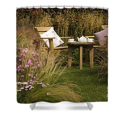 Afternoon Tea Shower Curtain by Anne Gilbert