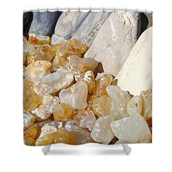 Agate Rocks Beach Art Prints Agates Shower Curtain by Baslee Troutman