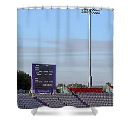 Ageas Bowl Score Board And Floodlights Southampton Shower Curtain by Terri Waters