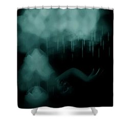 Agitation Shower Curtain by Jessica Shelton