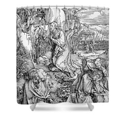 Agony In The Garden From The 'great Passion' Series Shower Curtain by Albrecht Duerer