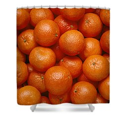 Agriculture - Field Of Tangerines Shower Curtain by Joel Glenn